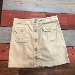 3 FOR $20 Khaki GAP Mini Skirt with Buttons Size 4